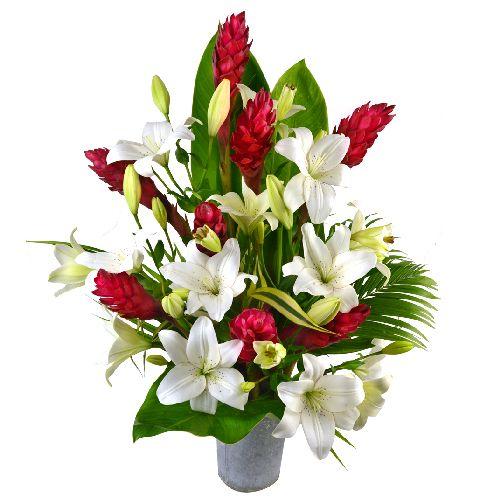 Grand palais est un magnifique bouquet exotique tout en for Bouquet de fleurs 123