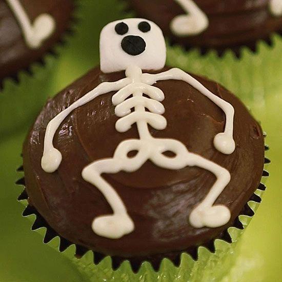 Scrumptious Skeleton Cupcakes Recipe Halloween Food Treats