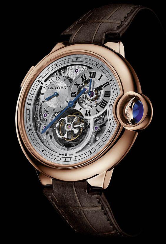 Plongez au coeur de la magie Cartier avec la Ballon Bleu tourbillon ... www.leasyluxe.com #cartier #luxurywatches #leasyluxe