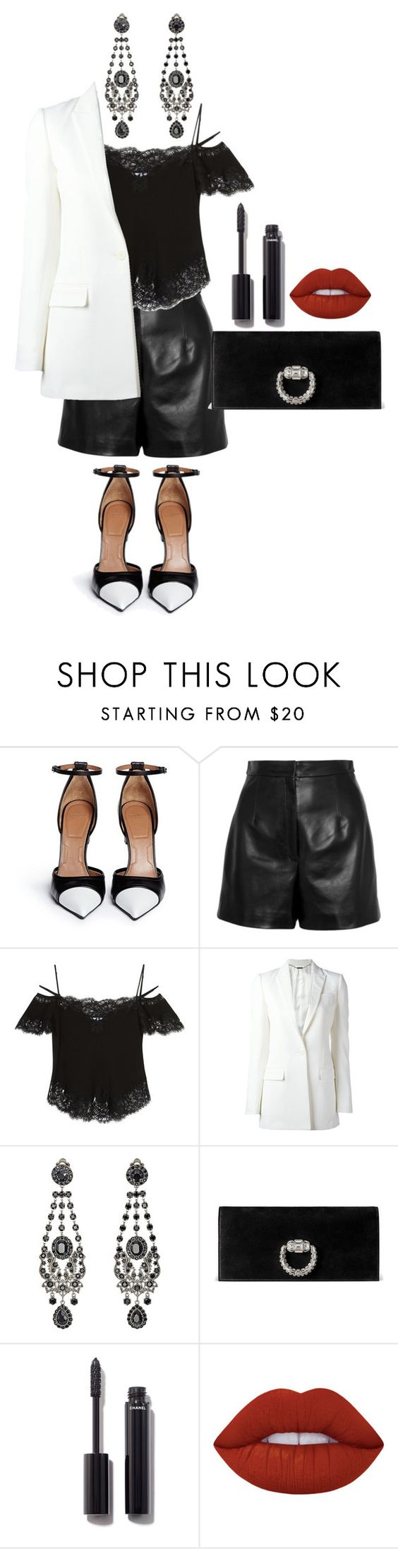 """Senza titolo #1897"" by monsteryay ❤ liked on Polyvore featuring Givenchy, Balenciaga, Gucci, Chanel and Lime Crime"