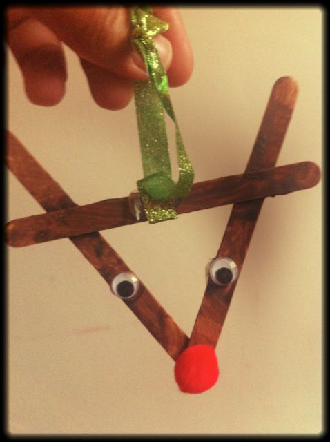 Popsicle sticks reindeer and popsicles on pinterest for Christmas crafts for four year olds