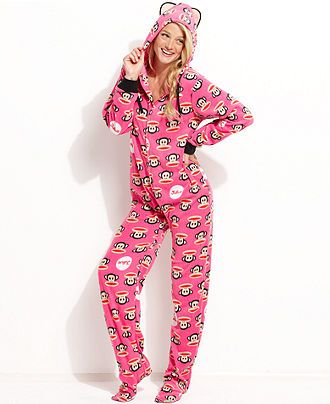 Paul Frank Sparkle Ice Hooded Footed Pajamas - Juniors' Pajamas ...
