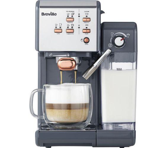 Breville One Touch Vcf109 Coffee Machine Graphite Grey Rose Gold Coffee Machine Coffee Bars In Kitchen Breville