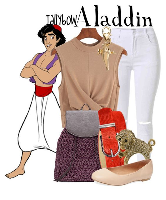 """Aladdin"" by tallybow ❤ liked on Polyvore featuring Style & Co., Miso, Elorie and Disney"
