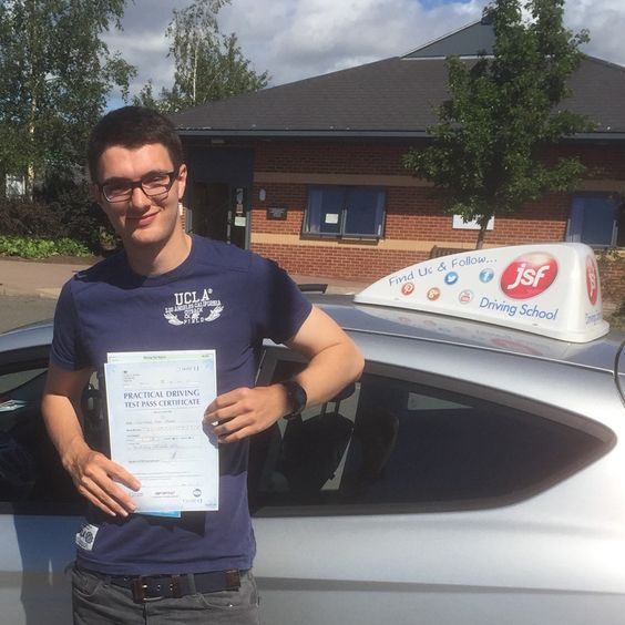 """Passing my driving test is huge! It gives me the independence I need, especially in the rural area that I live in & as a student that lives away from home. Being coached by Jim for the test made it much easier & he allowed the lessons to be fitted around my schedule. Thanks!!!"" Brilliant first time pass after an Intensive Course at Gloucester Test Centre for Chris Thomas from Goodrich, passing on 28th August, 2016 . Congratulations from the JSF Team."