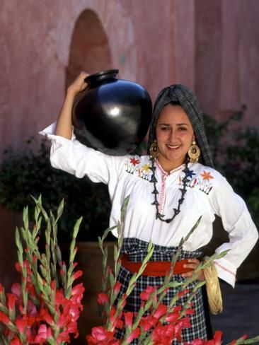 Photographic Print: Native Woman, Tourism in Oaxaca, Mexico Poster by Bill Bachmann : 24x18in