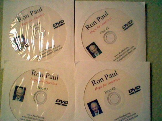 Ron Paul: 4 DVD Set-Hope for America 2012, libertaian