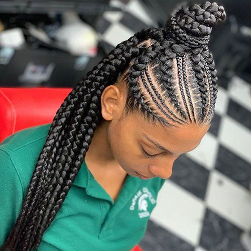 50 Cool Cornrow Braid Hairstyles To Get In 2020 In 2020 Cornrow Hairstyles African Hair Braiding Styles Braided Hairstyles