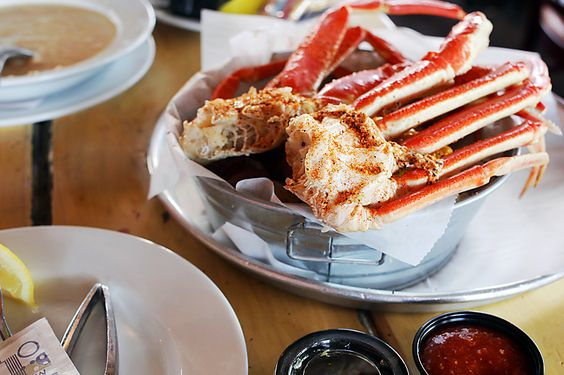 at the Crab Shacks