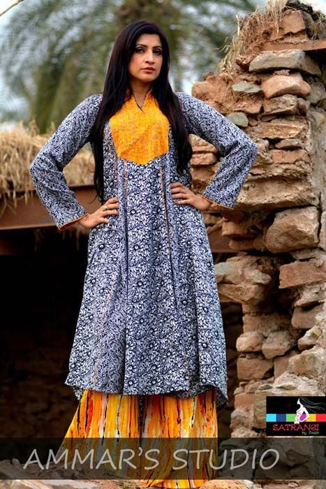 Satrangi by Saqib Wedding Wear Dresses 2014 for New Spring (1)
