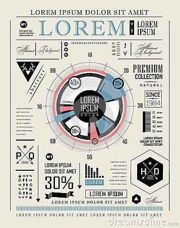 Retro infographic, typography set by Merfin, via Dreamstime