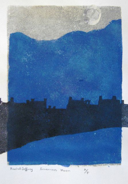 Eardley inspired Landscape prints    This lively class of 9 year olds (33 of them) looked towards Joan Eardley to create these stencil prints