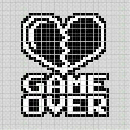 Corazon Roto Game Over Videojuegos Pixel Art Patterns Pixel Art Corazon Roto Arte