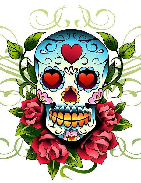 Dia de, Calavera tattoo and Tattoo designs on Pinterest