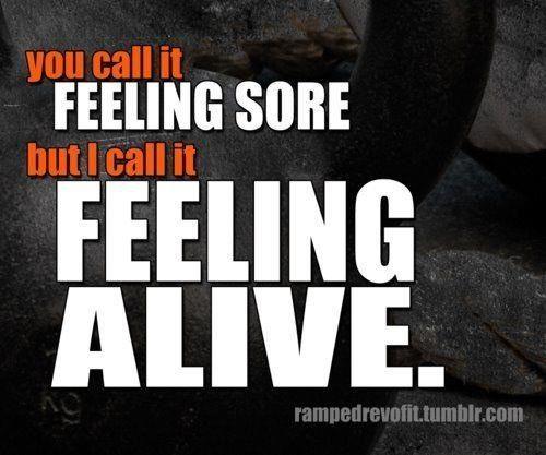 I feel ALIVE :)