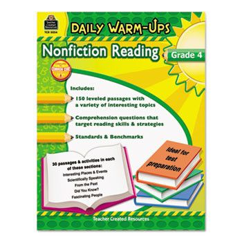 Daily Warm-Ups: Nonfiction Reading, Grade 4, 176 Pages