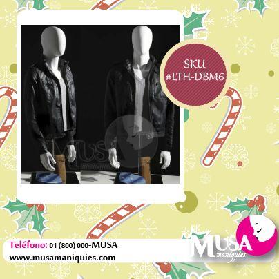 #Maniquí #Torso Masculino 3/4, con cabeza y brazos incluidos: http://ow.ly/DzOdV