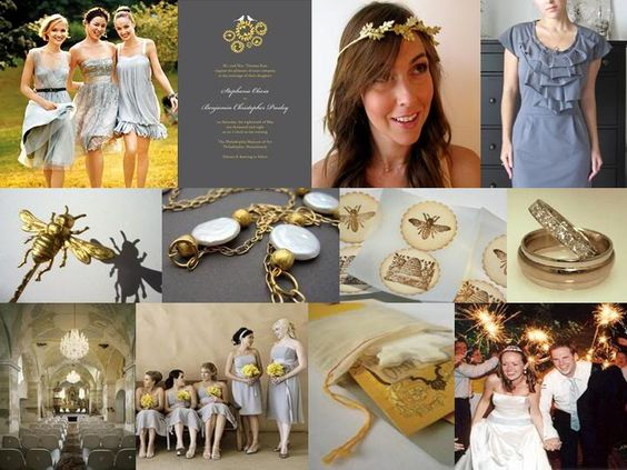 Gold & Gray Wedding Inspiration