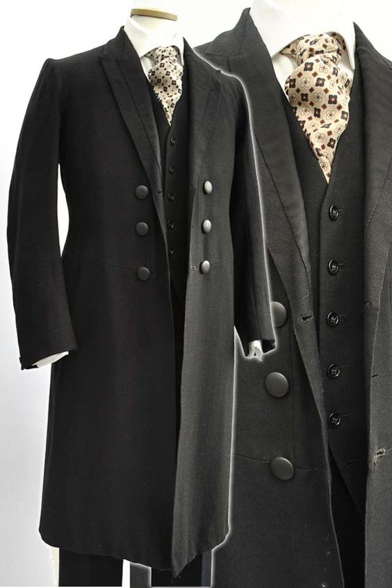 Men's Antique Victorian Wool Frock Coat Day Dress Coat Antique