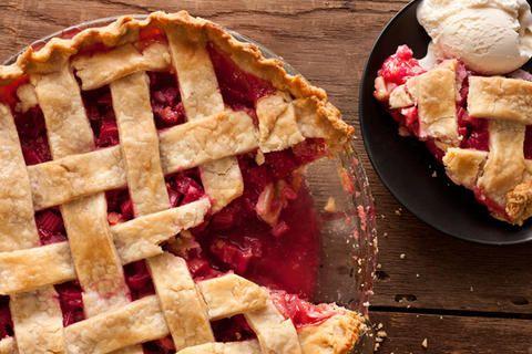 Latticed Rhubarb Pie Recipe - CHOW