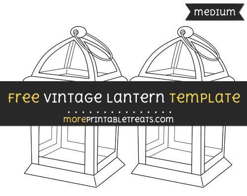 printable paper lantern template pdf  Free Vintage Lantern Template - Medium | Vintage lanterns ...