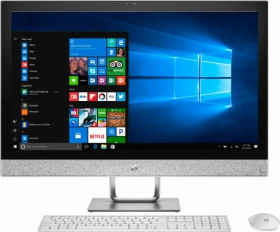 Hp Pavilion 27 Touch Screen All In One Intel Core I7 12gb Memory 1tb Hard Drive Intel Optane Memory Hp Finish In Blizzard White Cool Things
