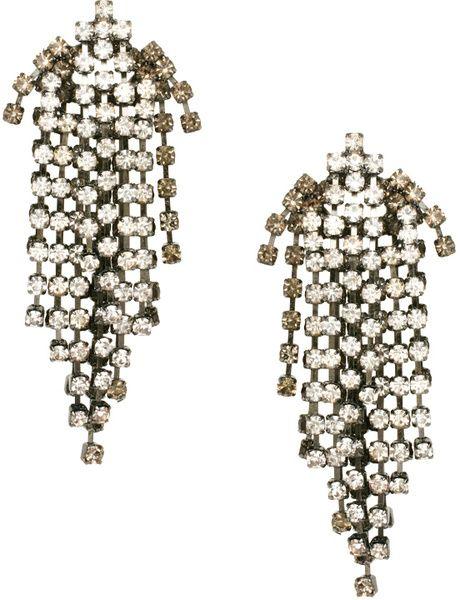 Graded Rhinestone Shower Earrings - Lyst