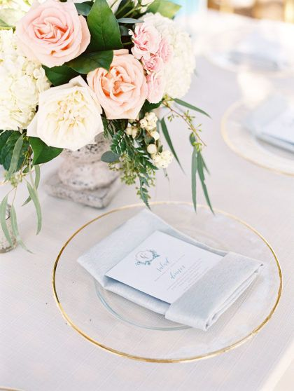 This simple place setting is the perfect way to make sure your table doesn't get too overwhelmed with decor! Captured by Charla Storey Photography #bridesofnorthtx #wedding #placesetting