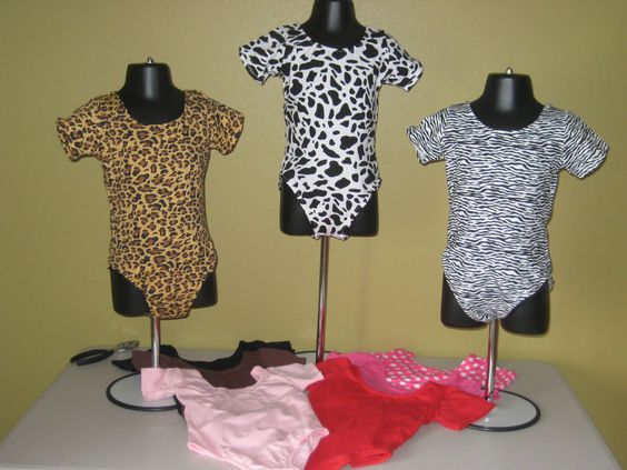 Leotard Dance Toddler 4T 5T 6 Animal Print Solids Leopard Hot Pink Cotton Blend
