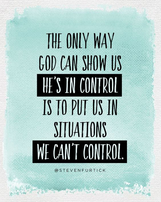 #God is in #control: