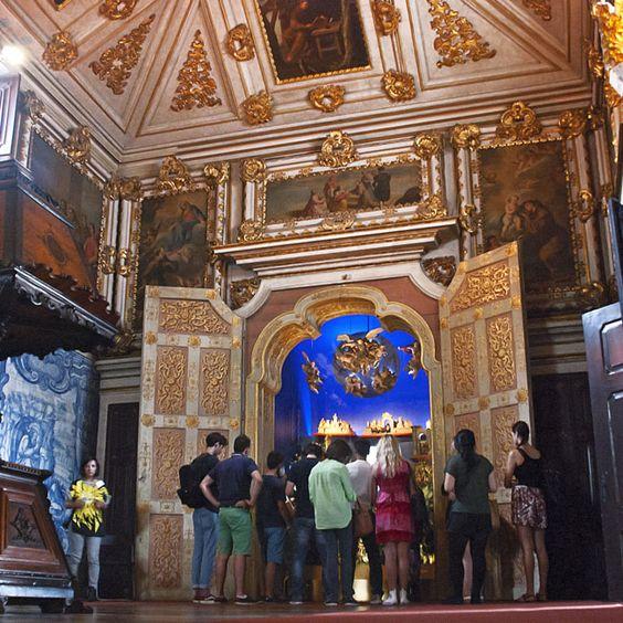 Pormenor da visita dos alunos Erasmus+ ao Museu Nacional do Azulejo. (Fotografia de Jorge Carvalho, 2014)