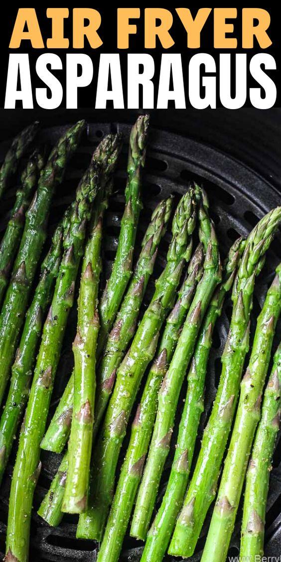 Air fryer roasted asparagus