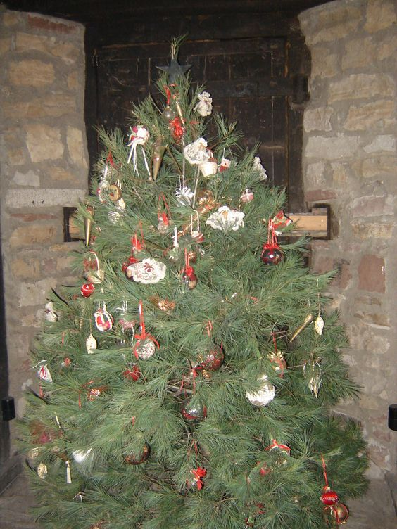 Christmas tree in the French castle at Old Fort Niagara, Youngstown, NY