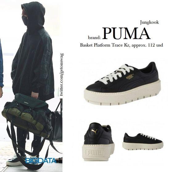 "Beyond The Style on Twitter: ""JUNGKOOK #BTS 180514 airport (requested) #방탄소년단 #JUNGKOOK #정국 PUMA Basket Trace Platform (kr)… "" PUMA Basket Trace Platform"