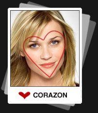 Cara  con forma de Corazon