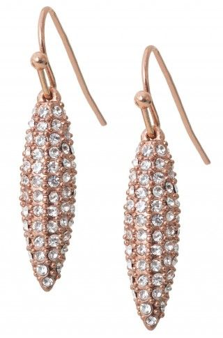 Harper Drop Earrings (Limited Edition) These beautiful rose gold plated earrings sparkle with handset glass stones. $49