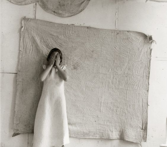 """FRANCESCA WOODMAN, Untitled, """"Patterns"""" (variant from Some Disordered Interior Geometries), New York, 1980-81 Vintage gelatin silver print, printed by the artist – Courtesy Robert Klein Galler"""
