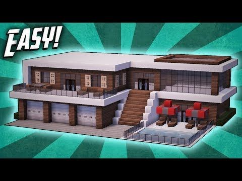 Minecraft How To Build A Modern Mansion House Tutorial 27