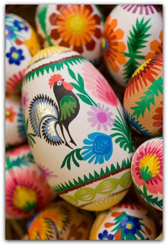Pisanki wielkanocne. Easter eggs, Poland.