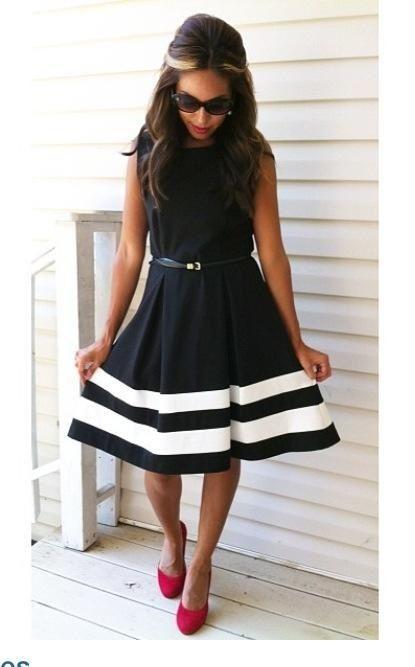Chic black and white dress. Modest fashion - Modern Modesty ...