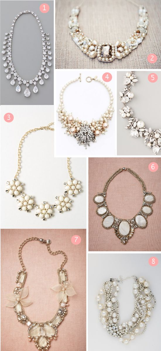 Love this site! Wedding Statement Necklaces, and So Much More
