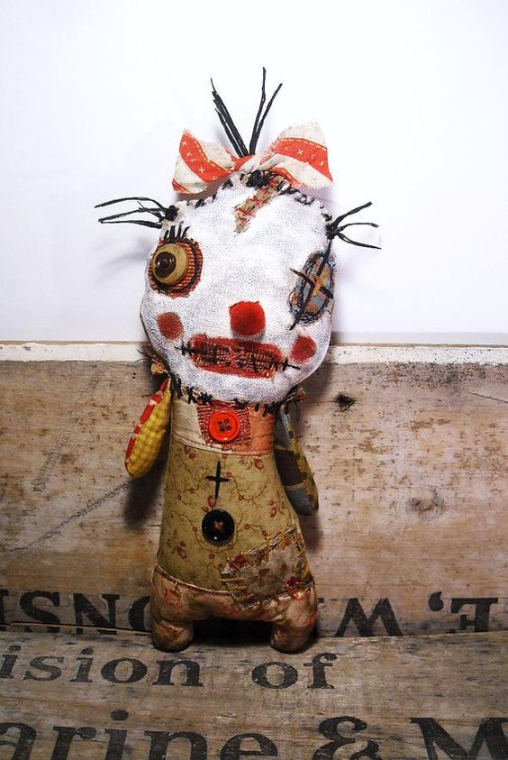 Handmade Art Doll Clowny Clarabelle by JunkerJane on Etsy, $85.00