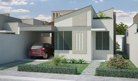 30 modelos de frentes de casas for Modelos de casas para construir