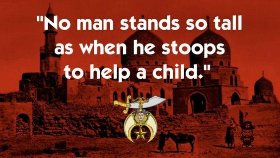 a man never stands as tall as when he stoops to help a child