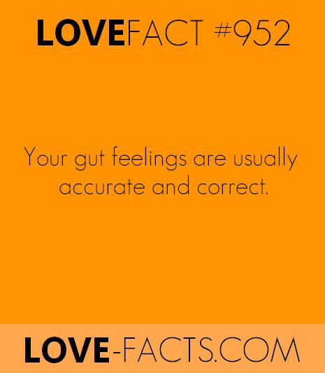 Facts about love & relationships