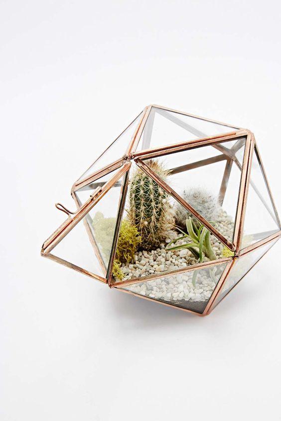 Urban Grow - Terrarium étoile cuivre - Urban Outfitters