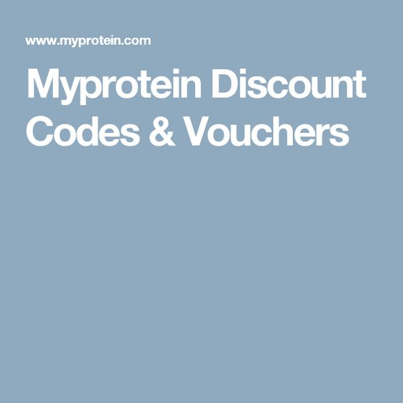 Myprotein Discount Codes & Vouchers