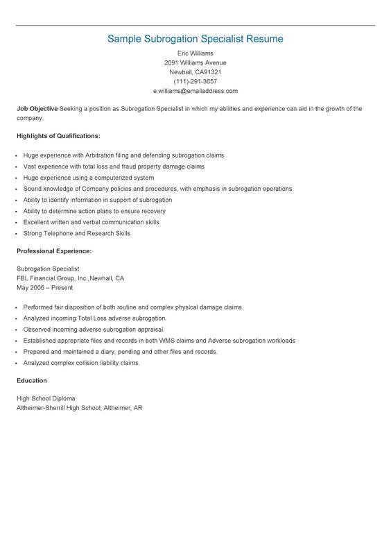 Sample Regulatory Affairs Specialist Resume resame Pinterest - sonographer resume