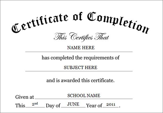 25+ beste ideeën over Certificate of completion op Pinterest - printable certificates of completion