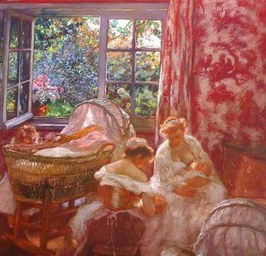 Gaston la touche les fr res jumeaux et un rideau en toile de jouy gaston - Rideaux toile de jouy ...
